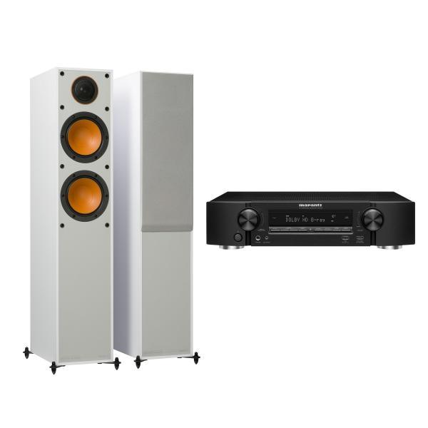 Напольная акустика Monitor Audio 200 White + Marantz NR1509 Black