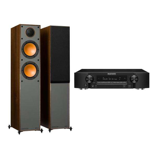 Напольная акустика Monitor Audio Monitor 200 Walnut + Marantz NR1509 Black marantz m cr611 black