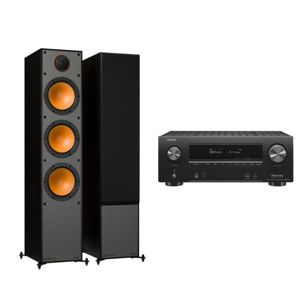 Напольная акустика Monitor Audio Monitor 300 Black + Denon AVR-X2500H Black denon avr x1200w