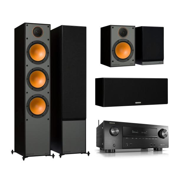 Комплект домашнего кинотеатра Monitor Audio Monitor 300 Black + Denon AVR-X2500H Black denon avr x1200w