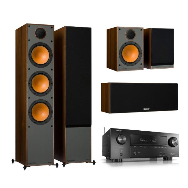 Комплект домашнего кинотеатра Monitor Audio Monitor 300 Walnut + Denon AVR-X2500H Black denon avr x1200w