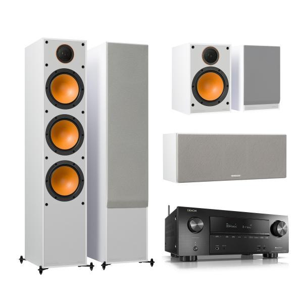 Комплект домашнего кинотеатра Monitor Audio Monitor 300 White + Denon AVR-X2500H Black denon avr x1200w