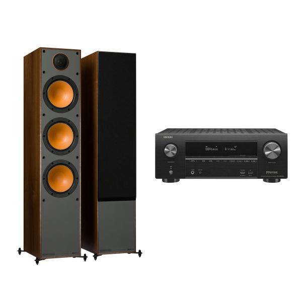 Напольная акустика Monitor Audio Monitor 300 Walnut + Denon AVR-X2500H Black denon avr x1200w