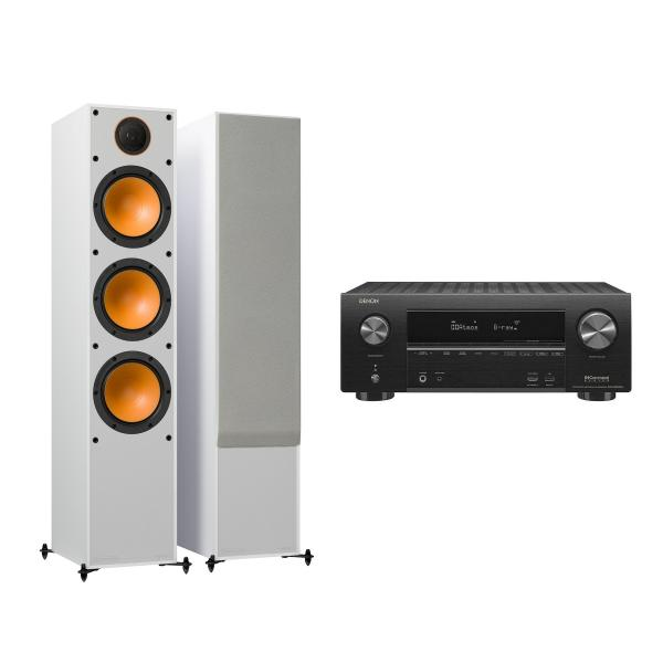 Напольная акустика Monitor Audio Monitor 300 White + Denon AVR-X2500H Black denon avr x1200w