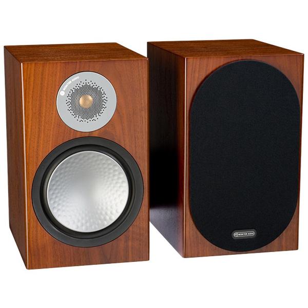 лучшая цена Полочная акустика Monitor Audio Silver 100 Walnut