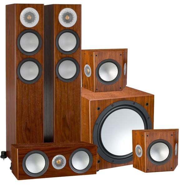 Комплект акустики 5.1 Monitor Audio Silver 200 AV12 Walnut