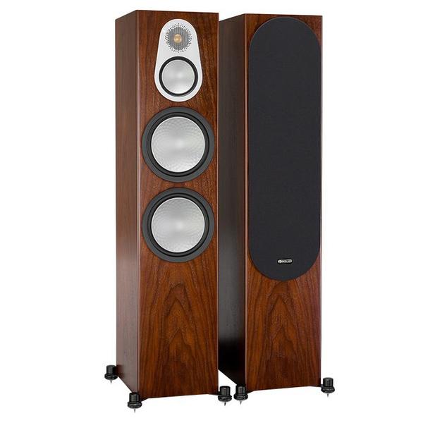 Напольная акустика Monitor Audio Silver 500 Walnut напольная акустика monitor audio bronze 5 walnut