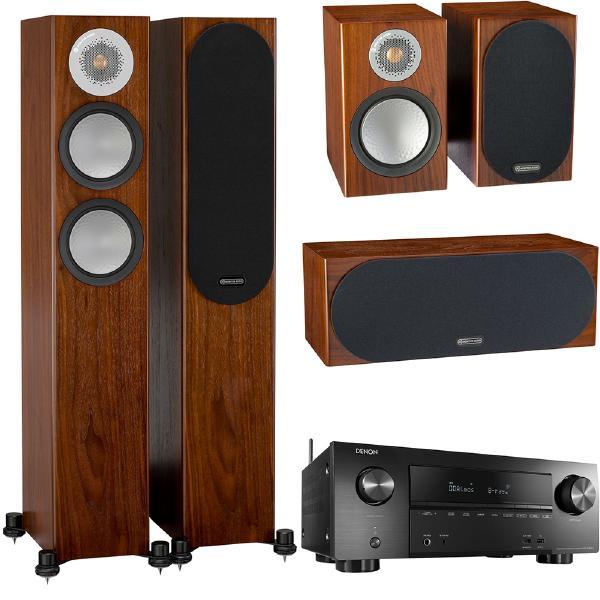 Комплект домашнего кинотеатра Monitor Audio Silver N4 Walnut + Denon AVR-X2600H Black