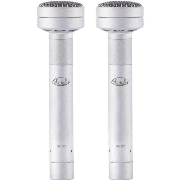Студийный микрофон Октава МК-102 Matte Nickel (стереопара, в картонной коробке)