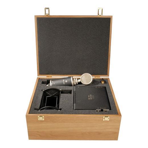 лучшая цена Студийный микрофон Октава МКЛ-5000 Black/Silver (в деревянном футляре)