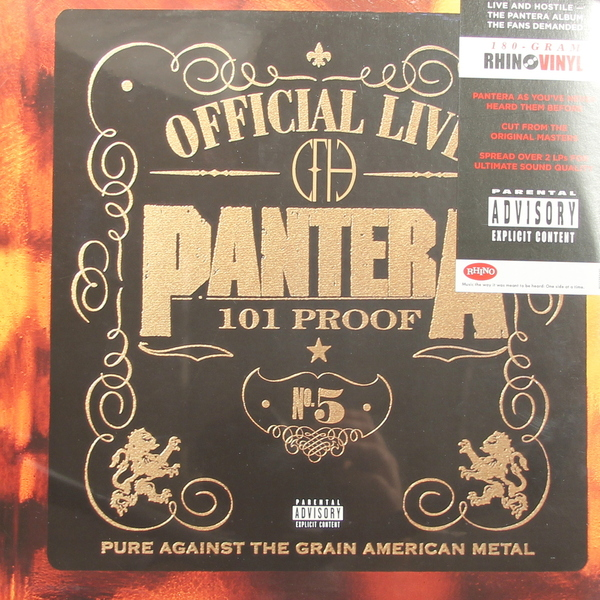 Pantera Pantera - Official Live 101 Proof (2 Lp, 180 Gr) pantera far beyond bootleg live from donington