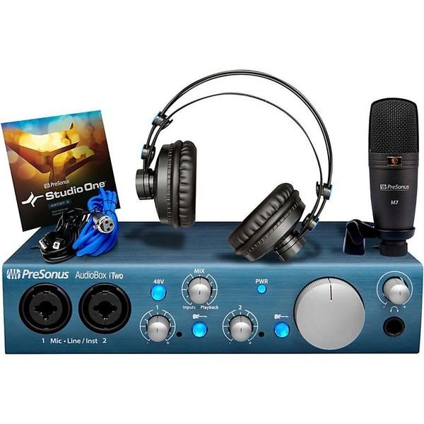Внешняя студийная звуковая карта PreSonus AudioBox iTwo Studio усилители для наушников presonus hp4