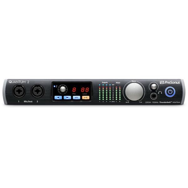 Внешняя студийная звуковая карта PreSonus Quantum 2 усилители для наушников presonus hp4