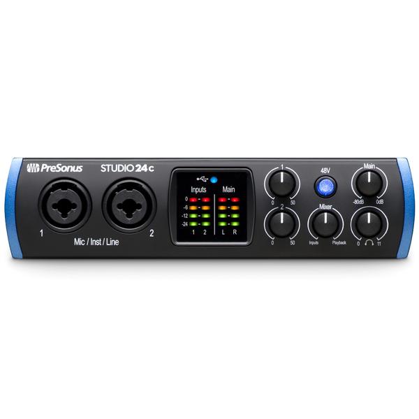 Внешняя студийная звуковая карта PreSonus Studio 24C усилители для наушников presonus hp4