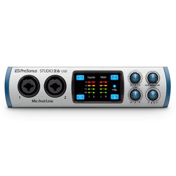 Внешняя студийная звуковая карта PreSonus Studio 26 усилители для наушников presonus hp4