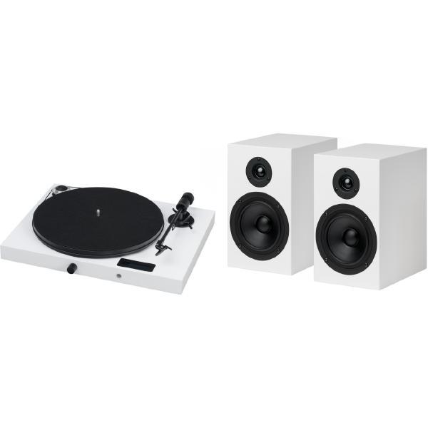 Виниловый проигрыватель Pro-Ject Juke Box E White (OM-5e) + Speaker 5