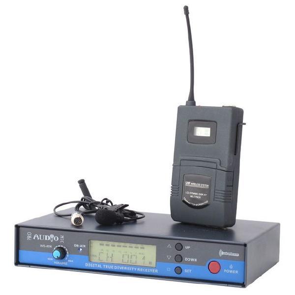 Радиосистема PROAUDIO с петличным микрофоном WS-806PT (уценённый товар)