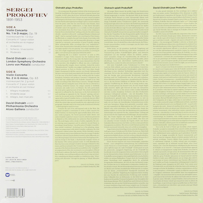 Prokofiev - Violin Concertos Nos. 1   2