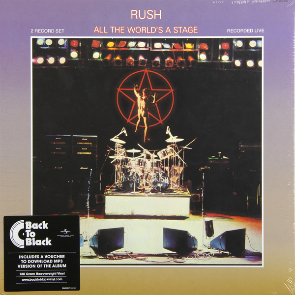 цена на RUSH RUSH - All The World's Stage (2 Lp, 180 Gr)