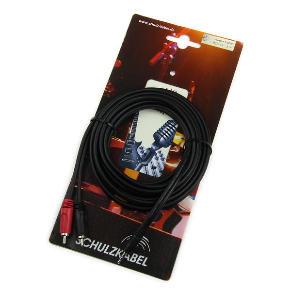 Кабель miniJack-2RCA Schulz RCA 32 3 m кабель audio minijack 3 5mm 2 rca 1 5m prolink pb103 0150