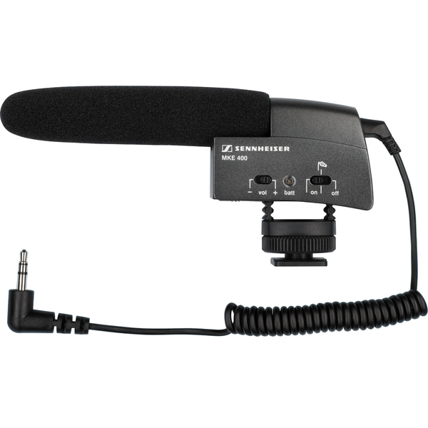 Микрофон для радио и видеосъёмок Sennheiser MKE 400 цена и фото