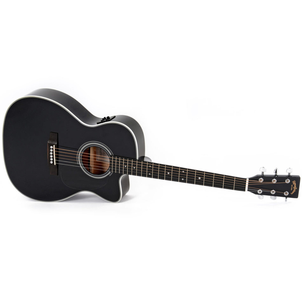 Гитара электроакустическая Sigma Guitars 000MC-1STE-BK цена и фото