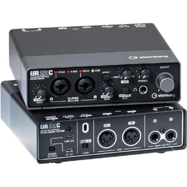 Внешняя студийная звуковая карта Steinberg UR22C цена