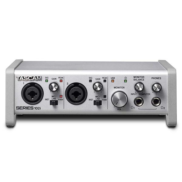 Внешняя студийная звуковая карта TASCAM SERIES 102i цена и фото