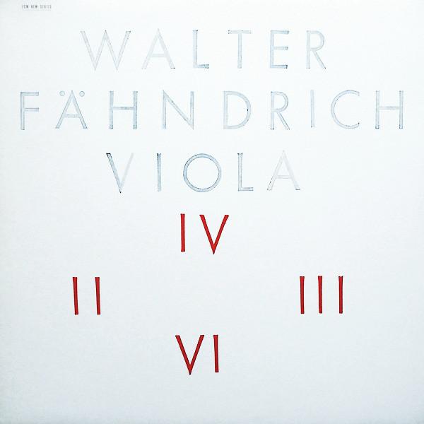 Walter Fahndrich - Viola