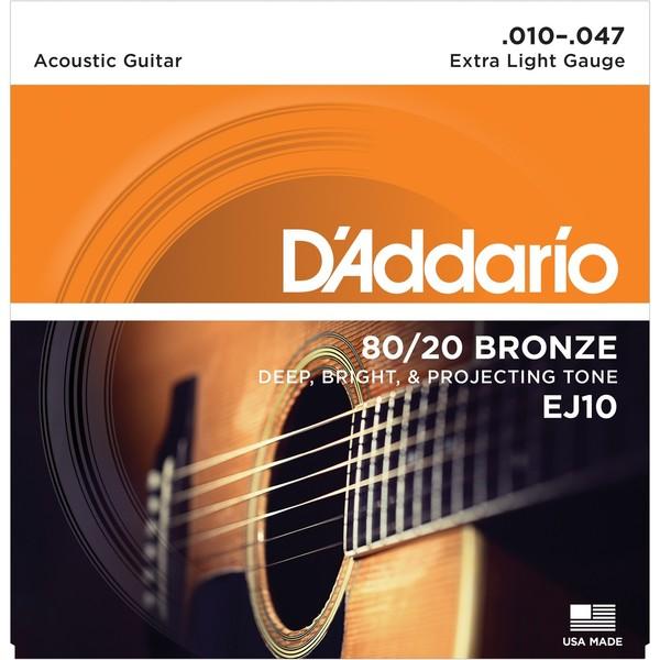 Гитарные струны DAddario EJ10 (для акустической гитары)