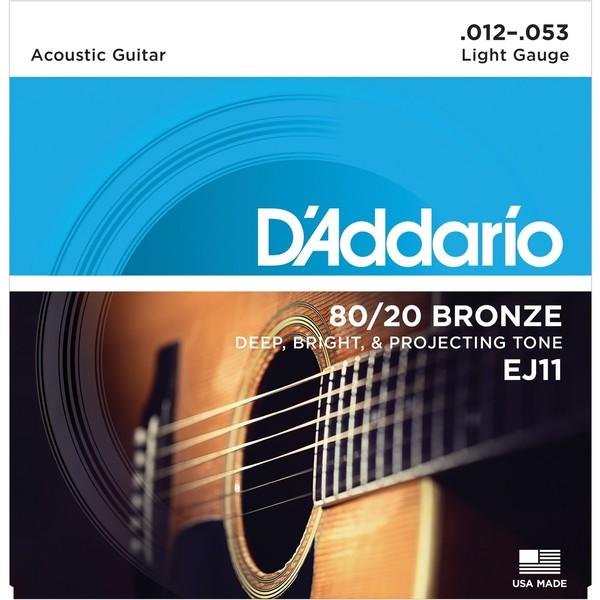 Гитарные струны DAddario EJ11 (для акустической гитары)