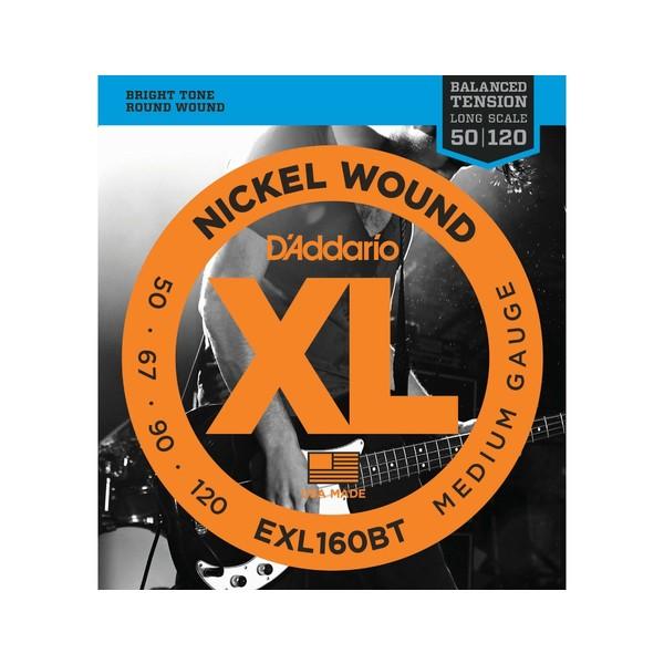 Гитарные струны D'Addario EXL160BT (для бас-гитары) ernie ball extra slinky nickel wound струны для электрической гитары 8 38