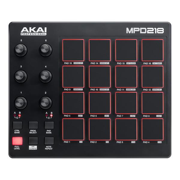 MIDI-контроллер AKAI Professional MPD218 akai professional mpc touch