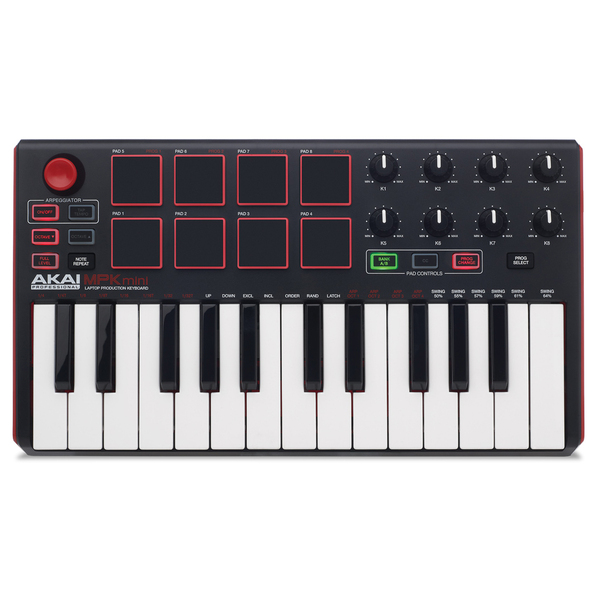 MIDI-клавиатура AKAI Professional MPK mini mkII Black lenovo thinkcentre m600 tiny intel j3710 4gb 500gb kb m win10 black