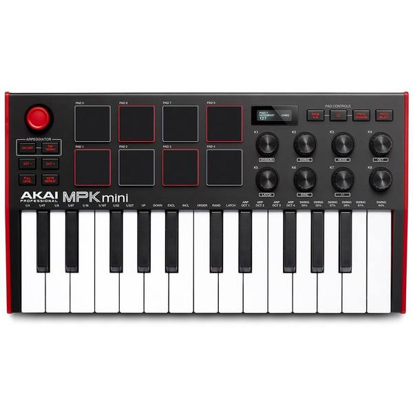 MIDI-клавиатура AKAI Professional MPK mini mk3 Black/Red