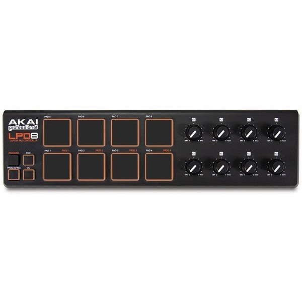 MIDI-контроллер AKAI Professional LPD8 midi контроллер alesis sample pad