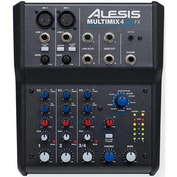 Аналоговый микшерный пульт Alesis MultiMix 4 USB FX alesis samplepad