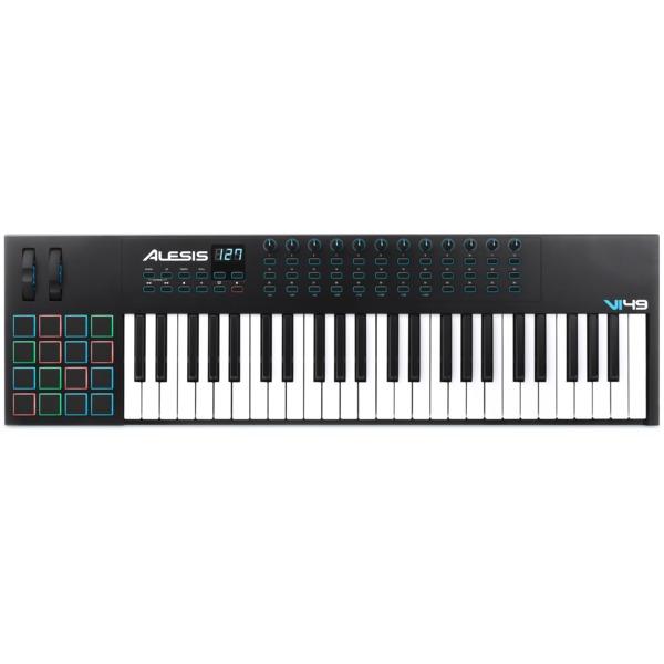 MIDI-клавиатура Alesis VI49 midi контроллер alesis samplepad pro