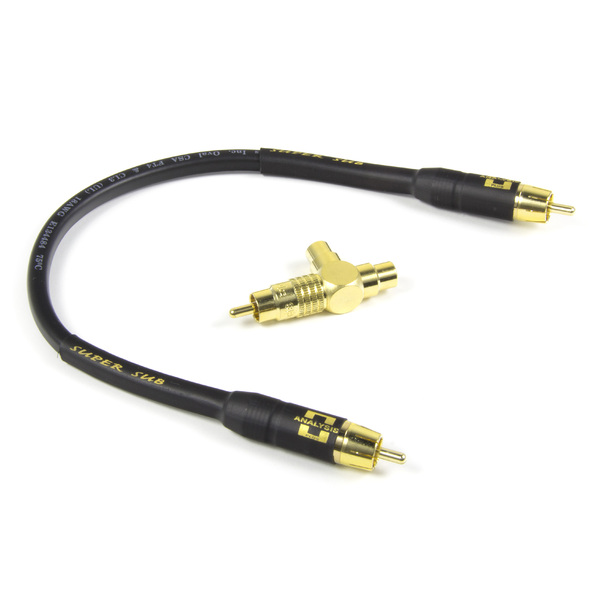 Кабель для сабвуфера Analysis-Plus Кабель-переходник для сабвуфера  Super Sub Oval T 1 ft/0.3 m кабель для сабвуфера analysis plus super sub in wall cl3 3 m
