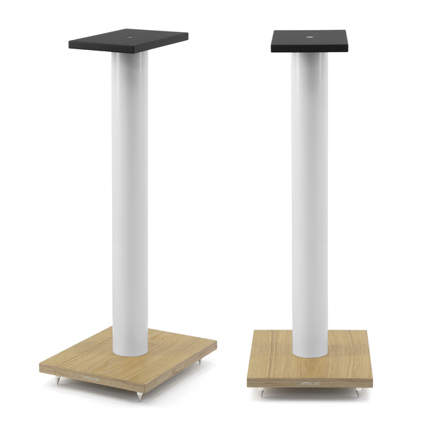 Фото - Стойка для акустики Arslab ST7 White Tube/Wood стойка для акустики arslab st7 white tube white