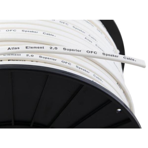 цена на Кабель акустический в нарезку Atlas Element 1.25 White