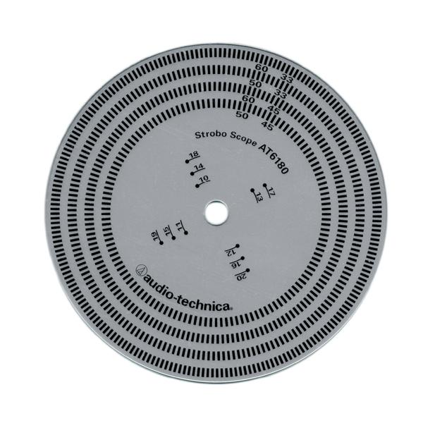 Товар (аксессуар для винила) Audio-Technica Стробоскопический диск  AT6180 technica audio technica головка ath msr7se установлена портативная гарнитура с высоким разрешением качества hifi