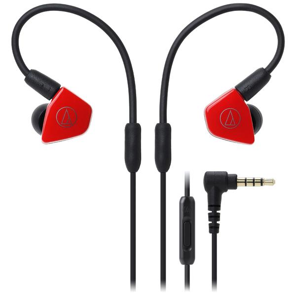 лучшая цена Внутриканальные наушники Audio-Technica ATH-LS50iS Red