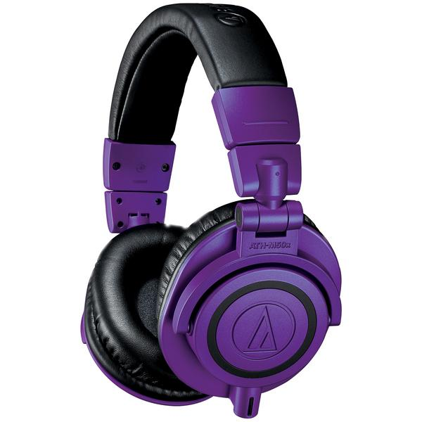 Охватывающие наушники Audio-Technica ATH-M50x Purple/Black охватывающие наушники yamaha hph mt8 black