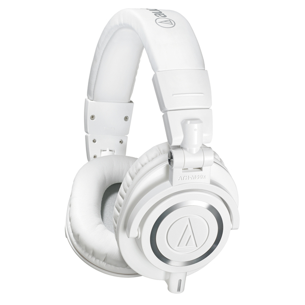 Охватывающие наушники Audio-Technica ATH-M50x White audio technica ath m50x mg