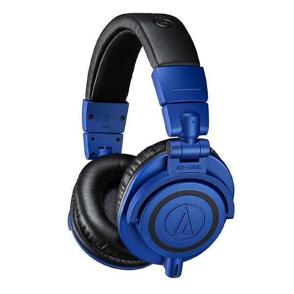Охватывающие наушники Audio-Technica ATH-M50x Limited Edition Blue охватывающие наушники audio technica ath m50x white