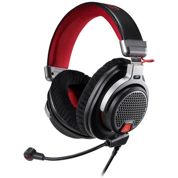 Фото - Охватывающие наушники Audio-Technica Игровые наушники с микрофоном ATH-PDG1a Black/Red наушники nakatomi hp t50v black