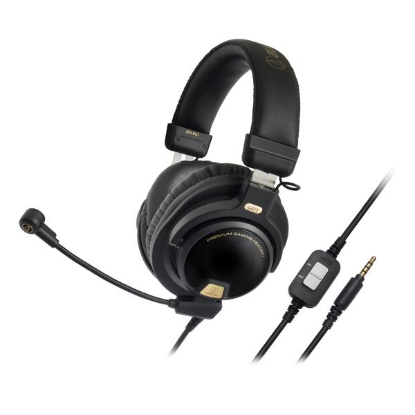 Охватывающие наушники Audio-Technica Игровые с микрофоном ATH-PG1 Black (уценённый товар)