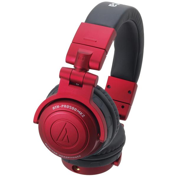 Охватывающие наушники Audio-Technica ATH-PRO500MK2 Red гарнитура audio technica ath sport3 rd red