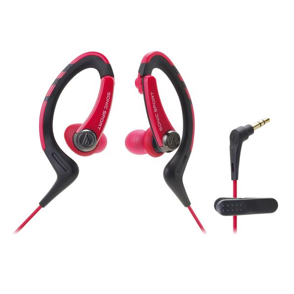 Внутриканальные наушники Audio-Technica ATH-SPORT1 Red наушники audio technica ath pro5mk3 black